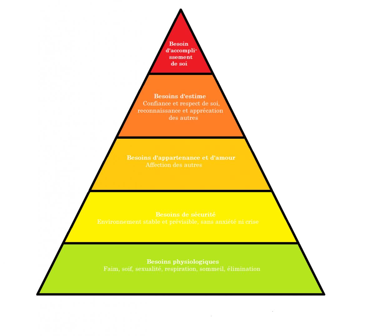 Projet professionnel et Motivation:  La Pyramide de MASLOW